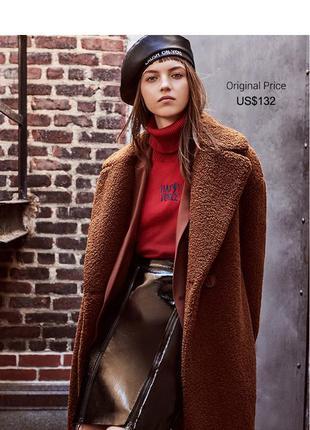 Очень стильная и шикарная шубка-пальто от датского бренда only
