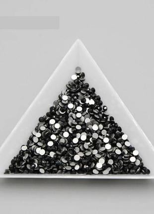 Стразы черные ss4 стекло