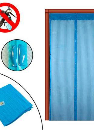Дверная антимоскитная сетка на магнитах, москитная шторка 100х...
