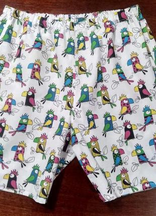 Удобные мужские семейные трусы (попугаи)