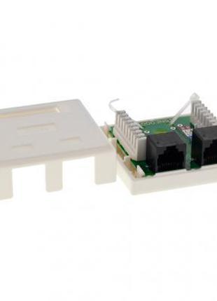 Розетка сетевая LogicPower 2xRJ45 UTP 5e (LP-214) (2304)