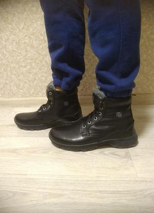 Зимние ботинки из натуральной кожи! все размеры!