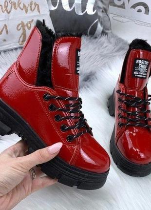 Брендовые ботинки-лак**rostori*