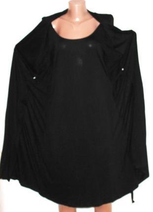 Стильное платье двойка платье +кардиан из тонкого трикотажа, p...