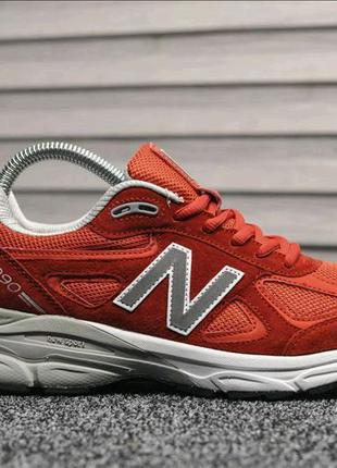 Мужские кроссовки New Balance 990 Red White. Артикул 9021t.