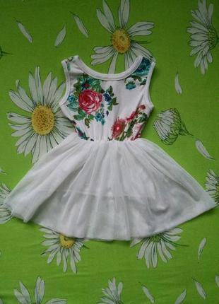 Нарядное платье для девочки 2-4 года