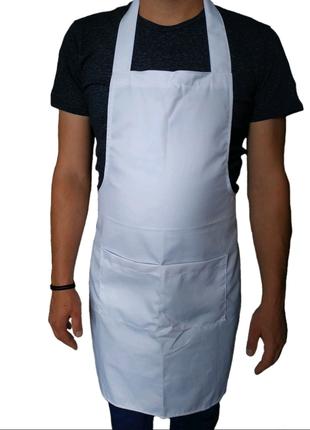 Фартук белый,для поваров барменов официантов продавцов спецодежда