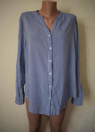Новая блуза-рубашка в полоску большого размера primark