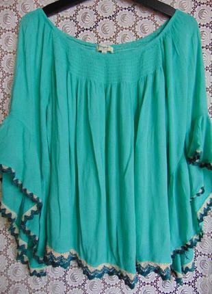 Блузка-распашенка с цыганскими рукавами, hayden, los angeles.