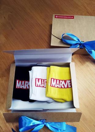 Подарочный набор мужской носки 3 шт. marvel