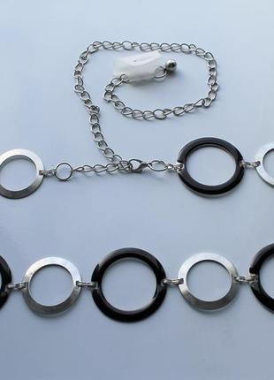 Пояс цепочка кольца серебро