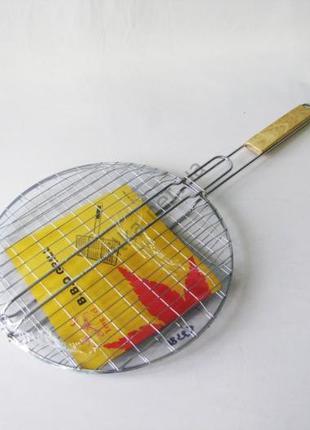 Барбекю нержавеющая с деревянной ручкой d 32 cm L 61 cm