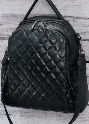 Женский кожаный рюкзак. Кожаная сумка. рюкзак.