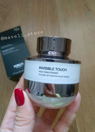 Рассыпчатая пудра Invisible Touch Face Fixing Powder KIKO Milano