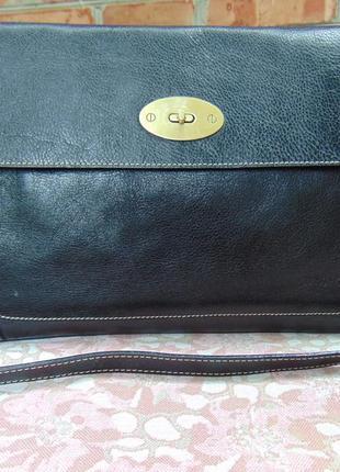 Брендовая кожаная сумка-планшет, findig, идеально для документов.