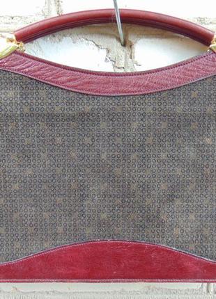 Кожаная сумка - портфель, кожа + замша