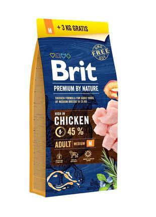 Brit Premium Dog Adult M 15+3 кг