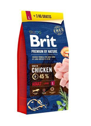 Brit Premium Dog Adult L 15+3 кг