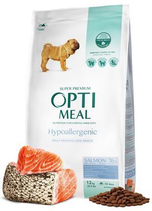 Optimeal Dog Adult Medium and Large Breeds Hypoallergenic Salm...