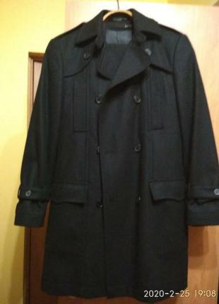 Пальто шерсть +шарф в подарок
