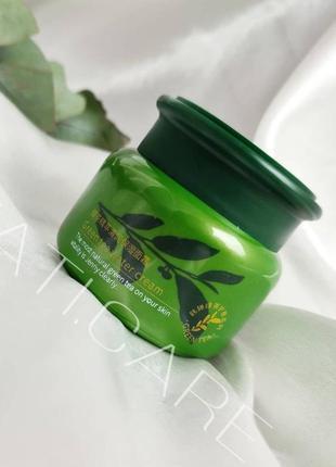 Зволожуючий крем для обличчя з зеленим чаєм rorec green tea