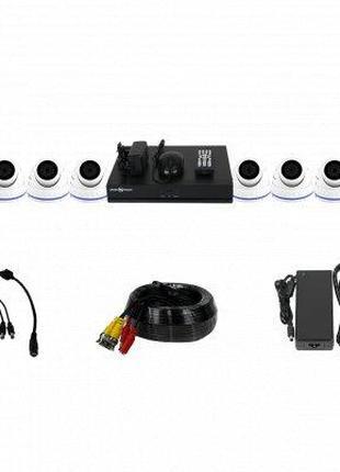 Уличный комплект видеонаблюдения GV-K-L46/08 1080N + Диск 1TB
