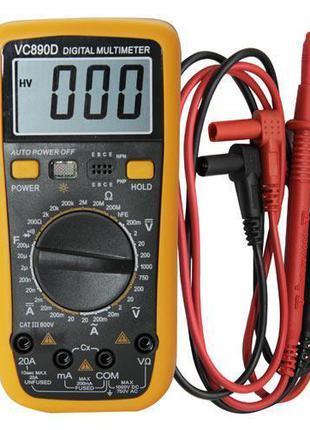 Цифровий мультиметр Digital Multimeter VC890D, желтый