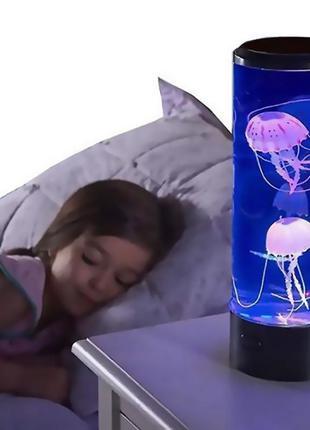 Лампа – ночник со светодиодными медузамиLED Jellyfish Mood Lam...