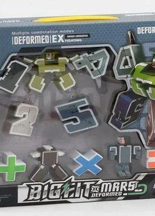 Трансформеры цифры 788-58 Y Комплект 10 штук, 2 вида, в коробке