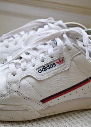 Кожаные кроссовки кросовки кеды мокасины adidas р.40 26 см