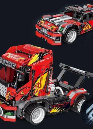 Конструктор 33010 Швидкісний гоночний тягач 2 в 1, 1051 деталей