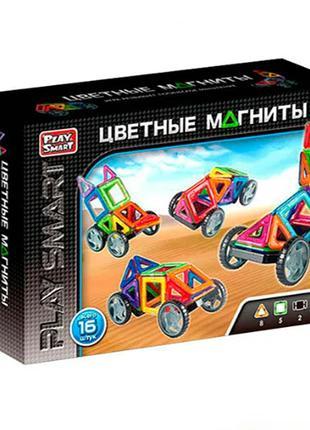 Конструктор магнитный Play Smart 5 моделей (2426)