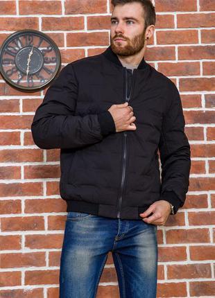 Мужская куртка черная стильная