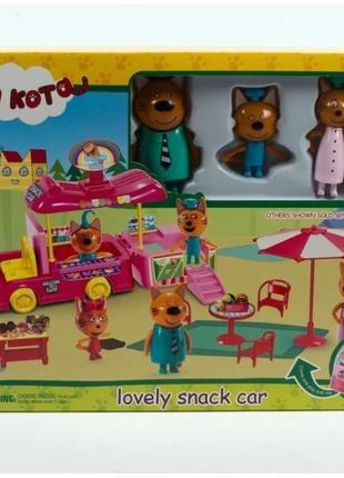 Игровой набор герои Три кота. Lovely snack car Машина для пикн...