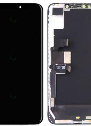 Дисплей Apple iPhone XS с тачскрином и рамкой, черный (OLED)
