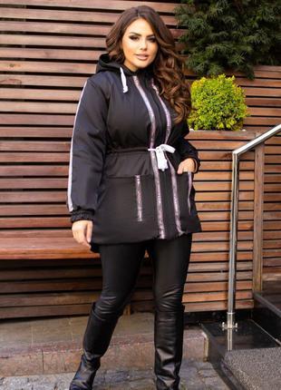 Женская куртка парка vicki roberts цвет черный