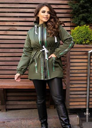Женская куртка парка Vicki Roberts цвет хаки