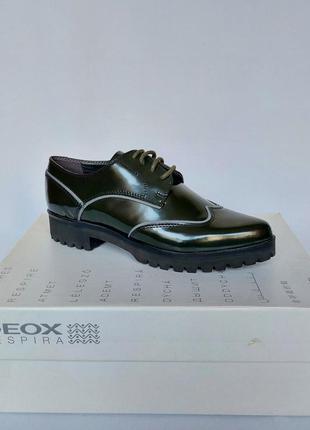 Распродажа. geox respira, фирменные туфли оксфорды. кожа. новы...