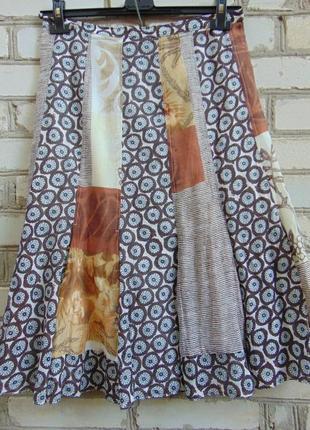 Тонкая двухслойная юбка хлопок+шелк, carole richard
