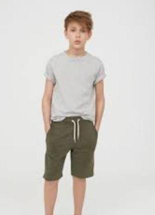 H&m шорты 9-10 лет 140 см хаки