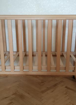Детская кроватка Верес (Украина) Бук+матрас (новый) в ПОДАРОК