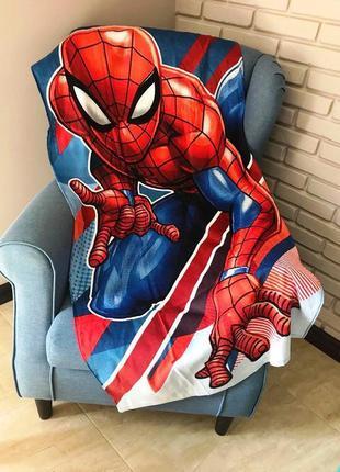 Детское пляжное полотенце спайдермен человек-паук 100% хлопок