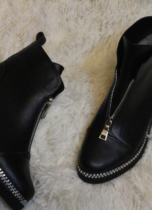 Комфортные женские ботинки , кожа натуральная . зима -весна ,2...