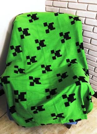 Флисовый плед майнкрафт - оригинал minecraft - подарок для фан...