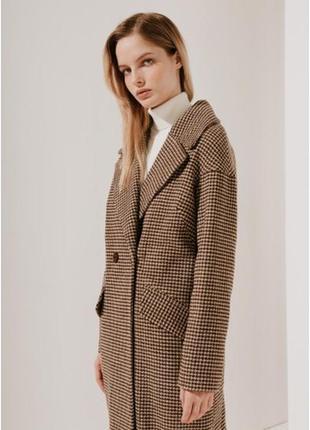 2020! valentir шерстяное пальто длинное со спущенным плечом (е...