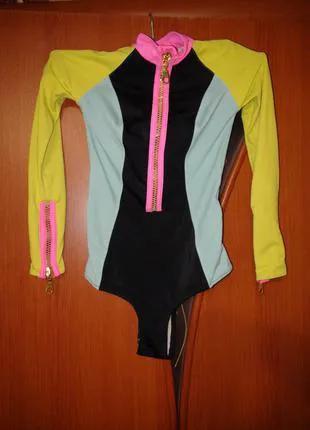 Детский спортивный купальник , для танцев, для гимнастики