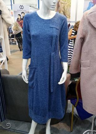 Свободное платье в бохо стиле season голубого цвета