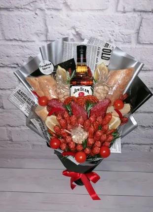 Съедобные букеты, любой состав. Мужской букет, фруктовый букет.