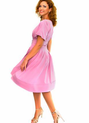 Невероятно красивое женское модное платье сиреневого цвета