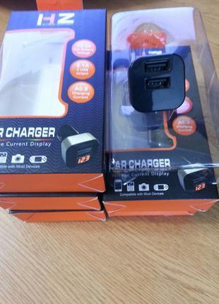 USB адаптер от прикуривателя авто HC1 9001 c индикацией
